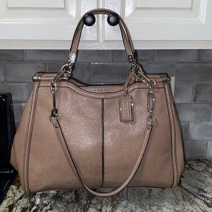 NWT COACH Madison Caroline Texture Leather Satchel